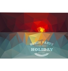 Polygonal seaside view sammer poster vector