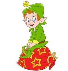 Cute cartoon xmas elf vector