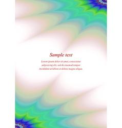 Color page corner ornament brochure template vector