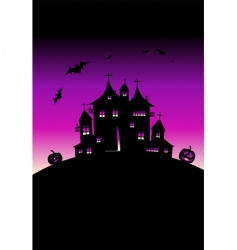 Halloween night holiday vector