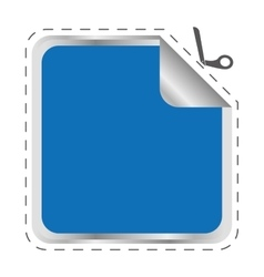 Blue frame icon label design graphic vector