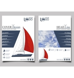 Yacht club flyer design template vector