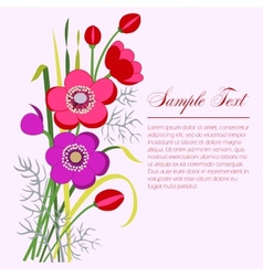 Anemone bouquet vector