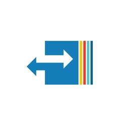 arrow colored logo vector image vector image
