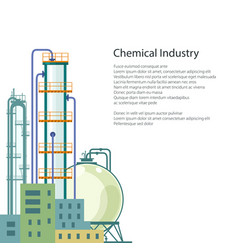 Chemical plant isolated and text vector