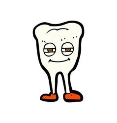 Comic cartoon smiling tooth vector