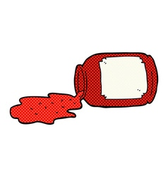 Comic cartoon spilled jam vector