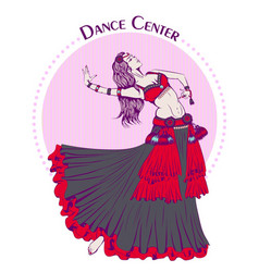dance line color tribal belly dance vector image