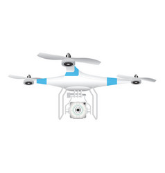 Drone with camera for photography or video on vector