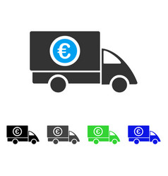 Euro delivery flat icon vector