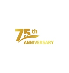Isolated abstract golden 75th anniversary logo on vector image