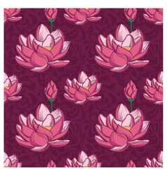 Lotus ornamental pattern vector