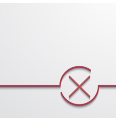 Modern red check mark on black vector