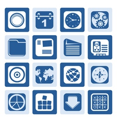 One tone mobile phone computer and internet icons vector