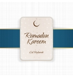 Ramadan kareem eid mubarak paper banner vector