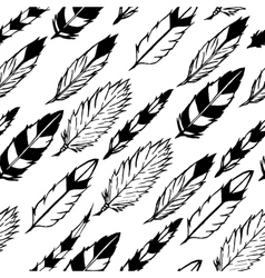 Seamless indian feathers vector image vector image