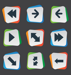 set of simple pointer icons vector image