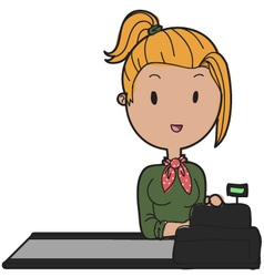 shop assistant vector image vector image