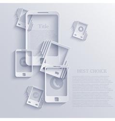 Smartphone icon background vector
