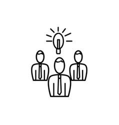team brainstorm icon vector image vector image