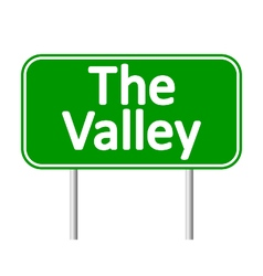 The valley road sign vector