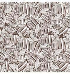 vintage pumpkin seamless pattern vector image