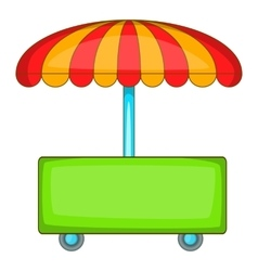 Wheel shop icon cartoon style vector