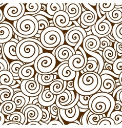 White and brown seamless wave pattern Seamless vector image