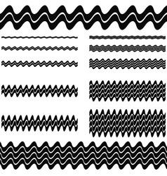 Divider Line Set vector image