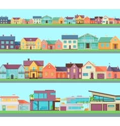 Big set of houses buildings and architectures vector