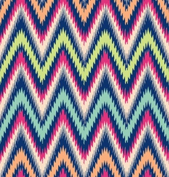 Modern tribal chevron ikat vector