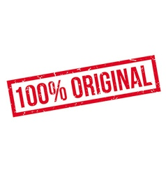 100 percent original rubber stamp vector