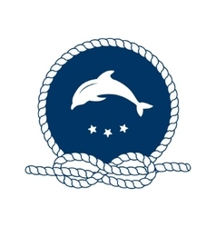Symbol of sailors sail cruise and sea vector