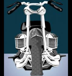 Abstract chopper bike vector