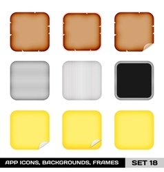 Set of app icon frames templates backgrounds set vector