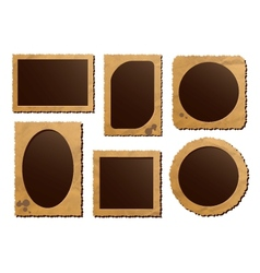 Retro photo frame isolated set vector