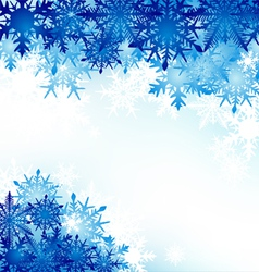 Winter background snowflakes hoarfrost vector