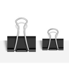 Black paper clip vector