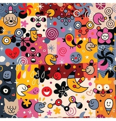 Fun cartoon pattern 5 vector