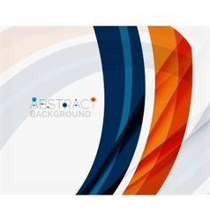 Blue and orange color shapes Abstract background vector image