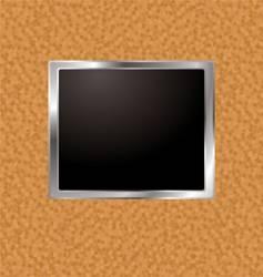 cork frame vector image