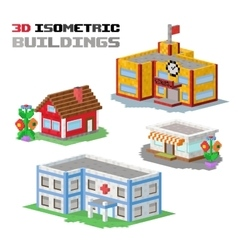 Buildings shop hospital vector