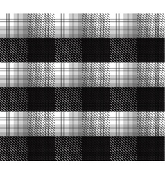 Black and white tartan plaid background vector