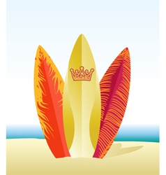 Surf beach vector