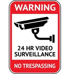Video surveillance cctv label vector