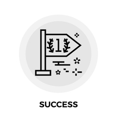 Success line icon vector