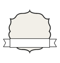 Badge with ribbon isolated design vector