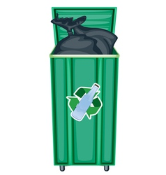 Recycling Dustbin vector image