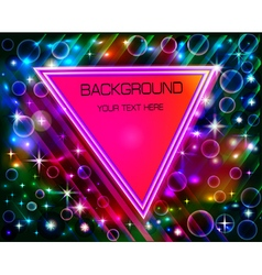 abstract background with a triangle vector image vector image