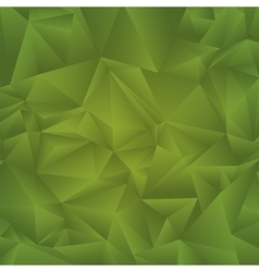 Abstract geometric triangle background green vector image vector image